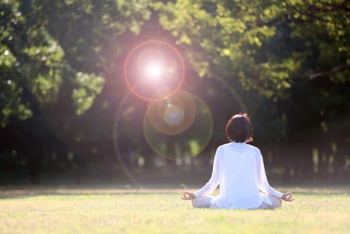 瞑想する自分